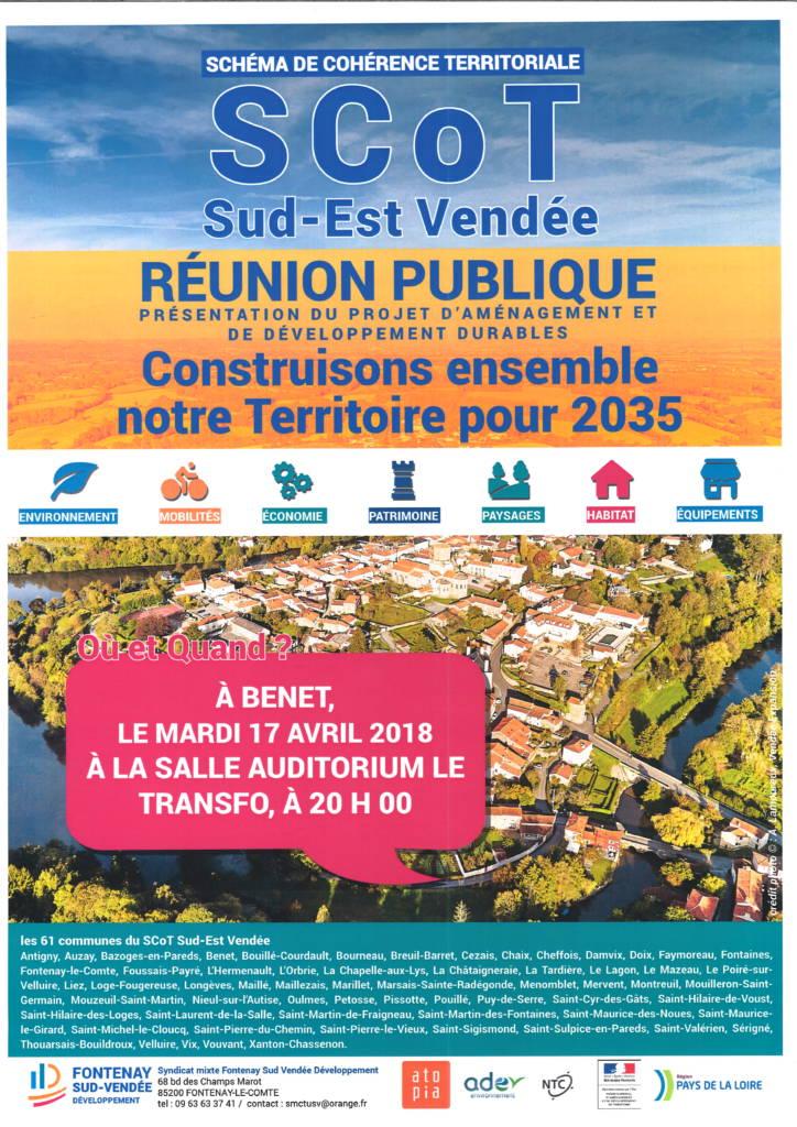 Réunion publique @ Auditorium le Transfo | Benet | Pays de la Loire | France